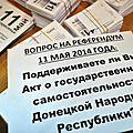 [ a la une ] aujourd'hui l'ukraine de l'est vote pour son indépendance, l'occident désapprouve la vraie démocratie