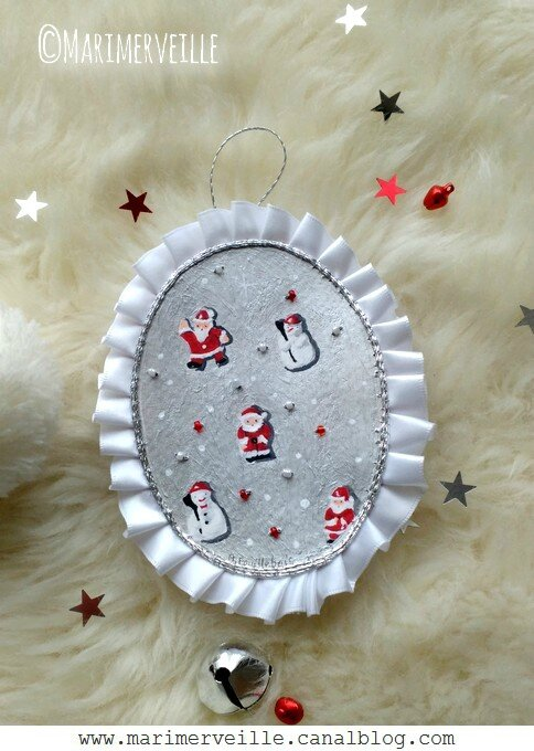 Marimerveille Médaillon petites décoration de Noël vintage