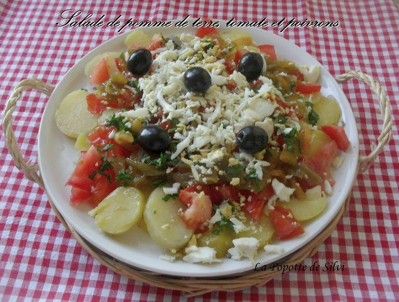 Salade de pomme terre tomate et poivron la popotte de silvi - Salade de poivron grille ...