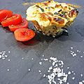 Flan courgettes parmesan