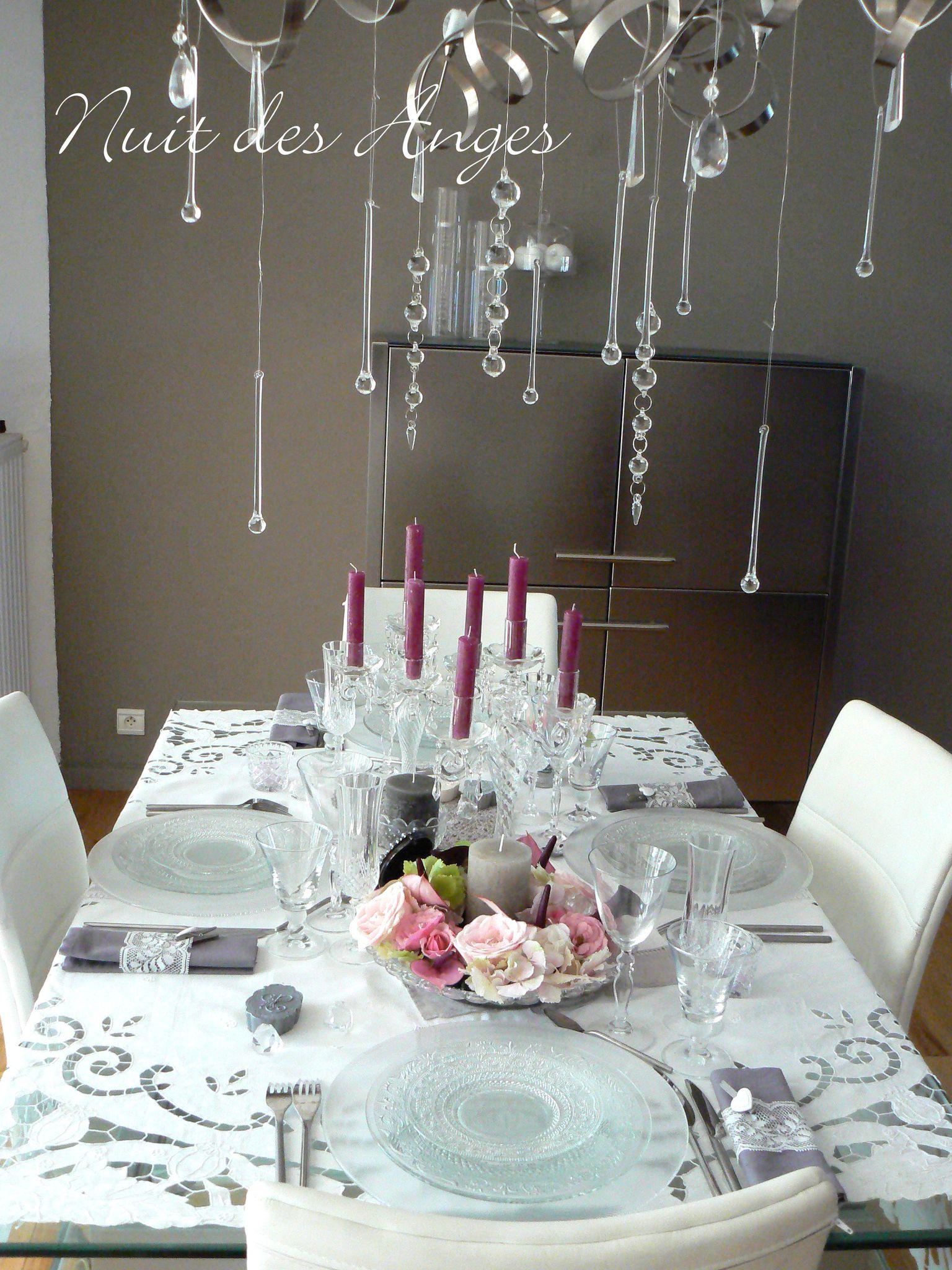 Nuit des anges décoratrice de mariage décoration de table féérique ...