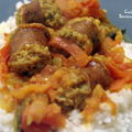 Rougail <b>andouillettes</b>