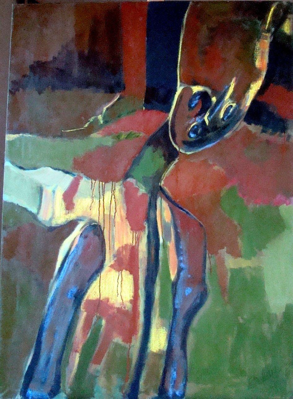 Ombre, huile sur toile 80cm x 110cm