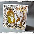 2 cartes de vœux avec des cerfs qui brillent