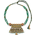 A jewelled <b>and</b> enamelled gold necklace, North India, Rajasthan, <b>19th</b> <b>century</b> <b>and</b> <b>later</b>