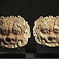 Masques d'esprits, Chine, Dynastie Qi du Nord (<b>550</b>-<b>577</b>)
