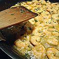 Linguine crevette sauce citron