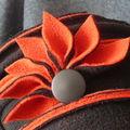Toque noir rouille fleur éventail (2)