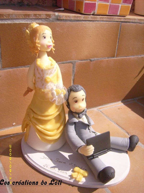 figurine de mariage ;