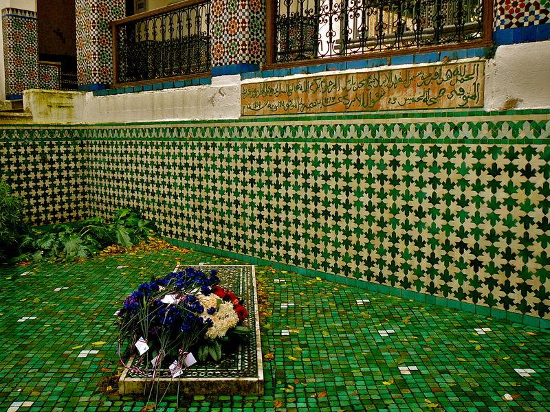 Détails mosaïques de la Grande Mosquée de Paris.