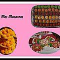 Les macarons citron et orange