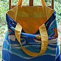 Un sac de plage (ou de piscine) - et derniers boutons chinés