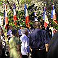 Jeudi 20 août 2015 au barroux: cérémonie de la stèle fernand blanc du tunnel