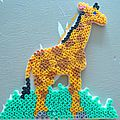 Girafe en perles à repasser