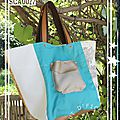 Cabas turquoise sca0027