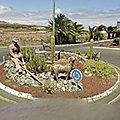 Rond-point à Santa Lucia de Tirajana (Espagne)