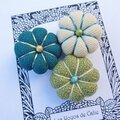 ♥ othilie ♥ broche textile 3 fleurs potirons