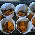 Mousse orange au yaourt et abricots poeles