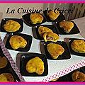 Minis muffins butternut et saucisson à l'ail