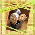 Wrap poulet carottes fromage cacahuètes