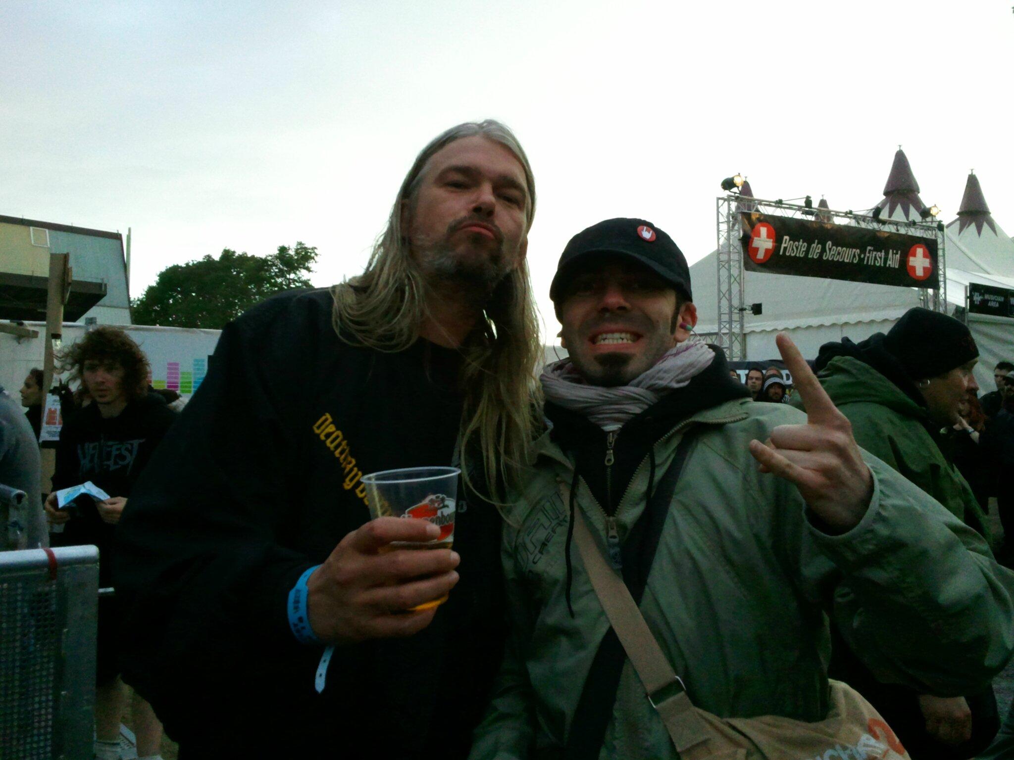 Martin van Drunen, chanteur d'ASPHYX et HAIL OF BULLETS, Hellfest festival (Fr) 2011.