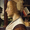 <b>Profile</b> <b>portrait</b> <b>of</b> <b>a</b> <b>young</b> <b>woman</b>, 1490