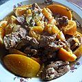 Agneau aux abricots et oranges