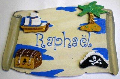 D corations personnalis es pour porte de chambre d 39 enfant sur le th me pirate d coration - Decoration bapteme pirate ...