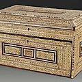 Cabinet en marqueterie d'ivoire ajouré, inde du nord, sind, xviie siècle et xixe siècle