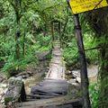 Petit pont pour accéder à la réserve Acaime
