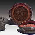 A rare painted lacquer circular box and cover, <b>Late</b> <b>Eastern</b> <b>Zhou</b> <b>dynasty</b>, 4th-3rd century BC