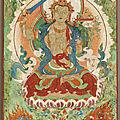 <b>Manjushri</b>, Art Sino-Tibétain, ca 19°siècle