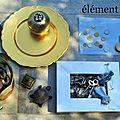 élément métal et logo