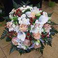 Bouquet rond de mariée chocolat