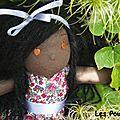 Annabelle (adoptée) poupée à la peau chocolat,