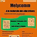 Melycomm à la recherche des cinq trésors