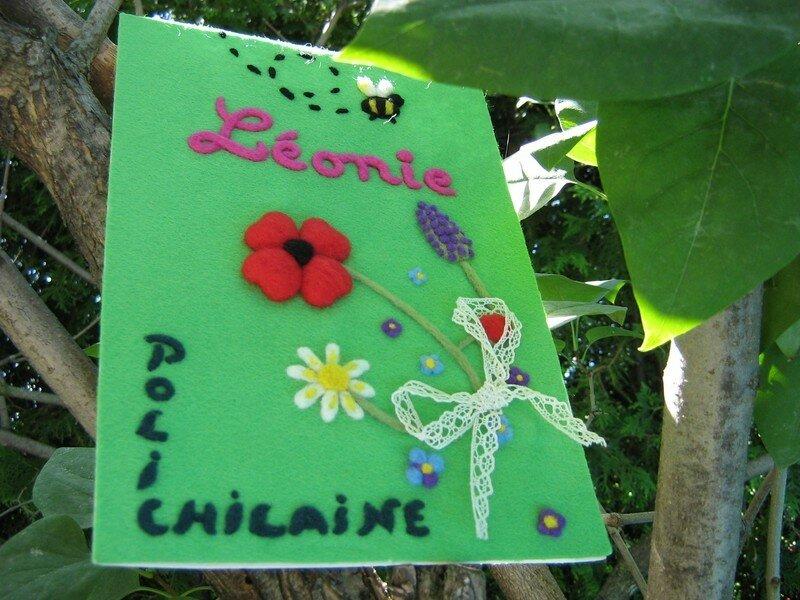 Opération Polichilaine: carte pour ma filleule Léonie