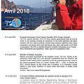 <b>Agenda</b> de la <b>Mer</b> : avril 2018 - <b>Agenda</b> of the Sea : April 2018