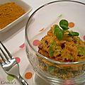 Trio de quinoa au citron & son caviar de carottes et poireaux en sucré-salé