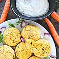 Falafels aux Carottes sauce Tahini (végétariens)