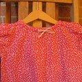 Robe Maud imprimé rose 1