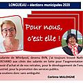 Corinne MALOIGNE soutient la candidature de Nathalie MARCHAND.