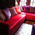Grand Canapé d'angle en Velours