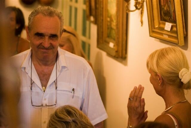Guy Savelli nous a joué de l'armonium.Copyright Olivier GOMEZ