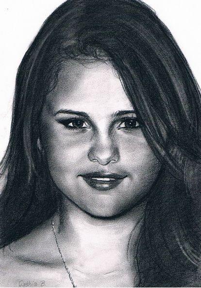 Selena Gomez - fusain
