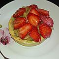 Tartelettes fraises rhubarbe recette ladurée