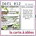 Défi # 12