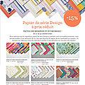 Une sélection de papiers design en promotion