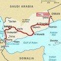 De salalah vers le yemen et mughsayl