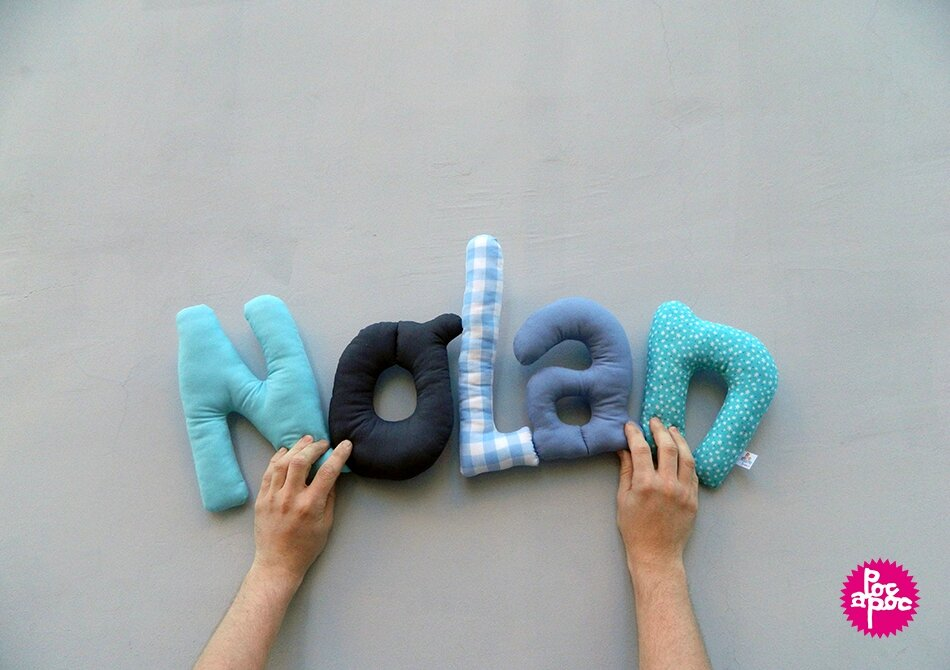 nolan,mot en tissu,mot decoratif,cadeau de naissance,decoration chambre d'enfant,cadeau personnalise,cadeau original,poc a poc,blog